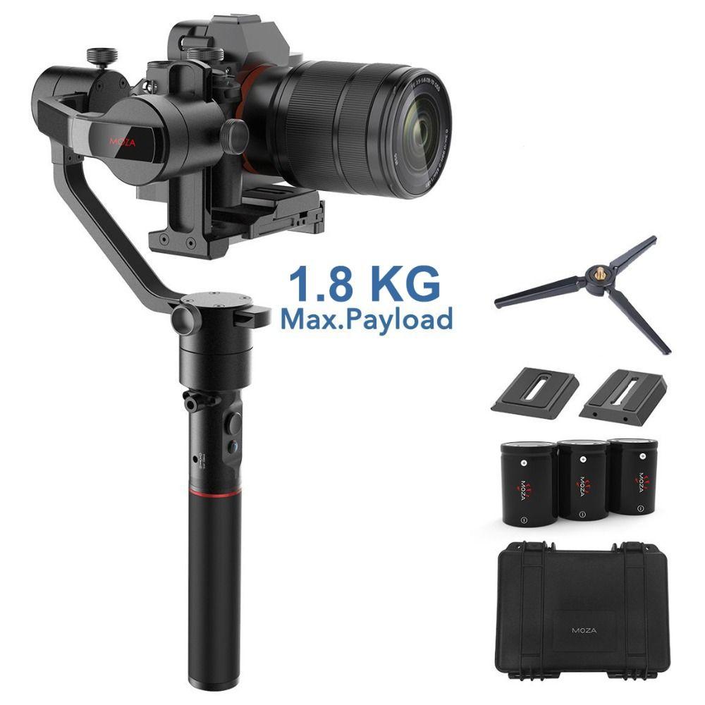 MOZA AirCross 3-Achsen Gimbal Stabilisator für Spiegellose Kamera bis zu 1,8 kg, 12 stunden Run-zeit, Zeit-hinfällig, für Sony A7SII, Pana GH5