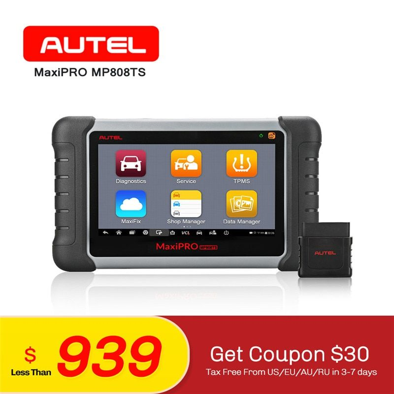 AUTEL MaxiPRO MP808TS Diagnostic Scanner TPMS Programming OBD2 Auto Car Diagnostic Scan Tool SRS Wifi ALL System Code Reader