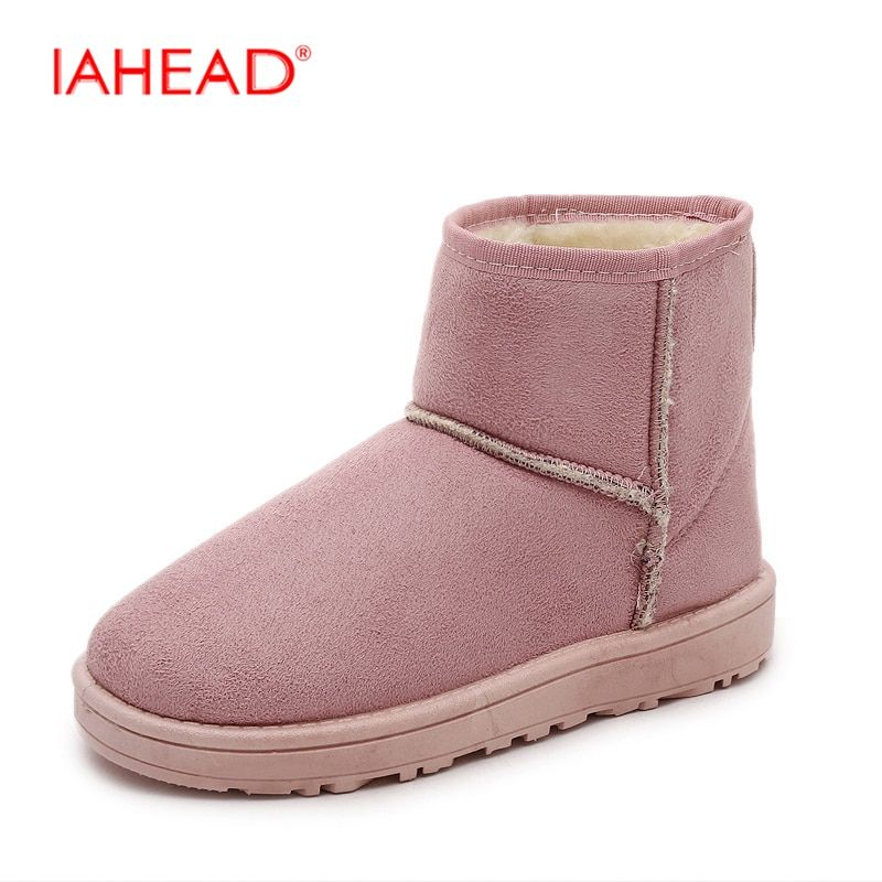 IAHEAD nieve botas Zapatos de invierno de Las Mujeres A Estrenar Barato Del Tobillo de Arranque Zapatos de Invierno Cálido Antideslizante Botas De Goma botas de mujer UPC196