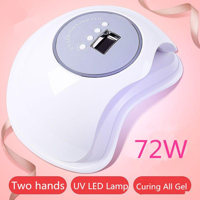 Größte Raum 80 W/72 W UV Lampe LED Nagel Lampe Doppel Licht Nagel Trockner Licht Aushärtung LED Gel nagellack Werkzeuge Mit Infrarot Sensor