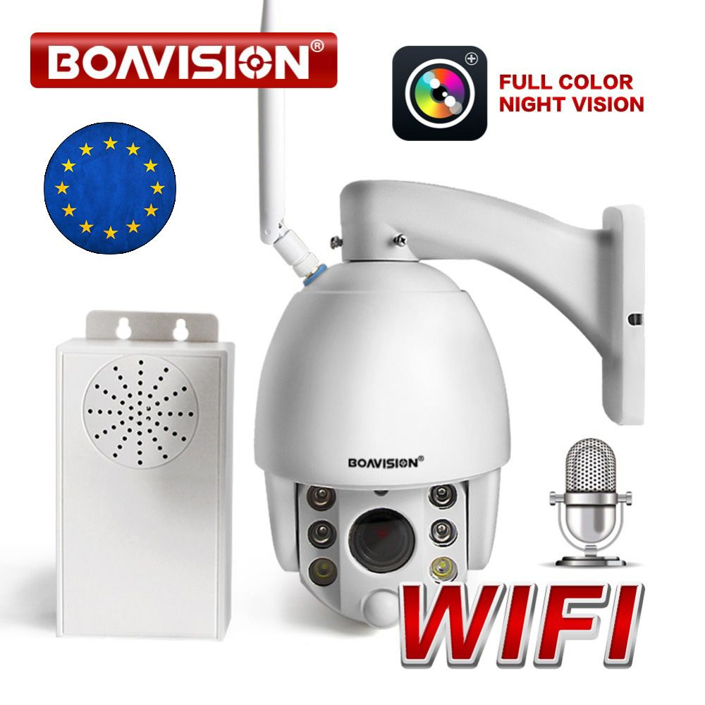 5X Zoom 1080P Wireless PTZ IP Camera WIFI Outdoor Color Night View CCTV Security Video Camera Radar Detect Two Way Audio