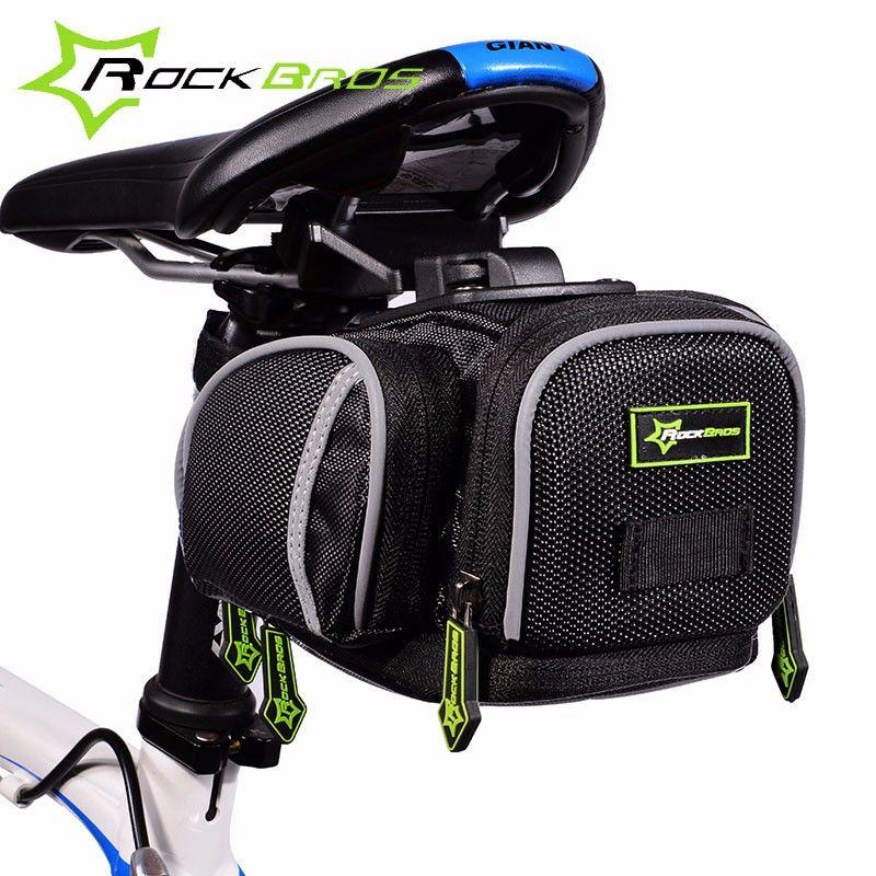 Rockbros sac de vélo imperméable à l'eau de montagne sac de vélo de route vélo réfléchissant selle siège arrière sac accessoires Bisiklet Aksesuar