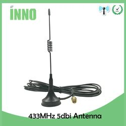 1 pcs 5dbi 433 mhz GSM Antenne SMA Mâle Connecteur Droit, à base Magnétique pour Ham Radio Signal Booster Sans Fil répéteur