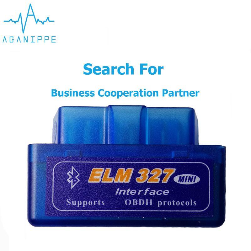 10 pièces Elm327 V1.5 OBD2 Bluetooth Autoscanner Pour Voiture Elm-327 2.1 ODB Scanner diagnostique Automatique Adaptateur Voiture Scanner Pour La Russie