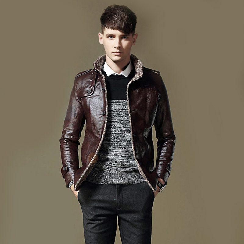 mens windbreaker coat brand casual bomber jacket men style motorcycle men's leather jacket jaqueta de couro masculina