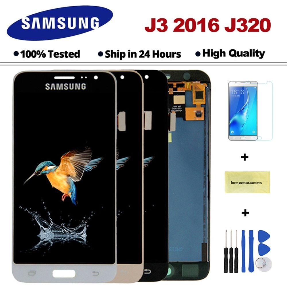 J320F LCD For Samsung Galaxy J3 2016 J320 LCD J320A J320FN J320M LCD Display With Touch Screen Digitizer Assembly Free shipping