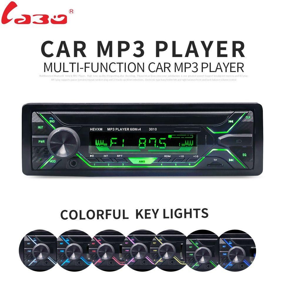 LaBo Car Radio Stereo Player Bluetooth Phone AUX-IN MP3 FM/USB/1 Din/remote control 12V Car Audio Auto 2018 Sale New