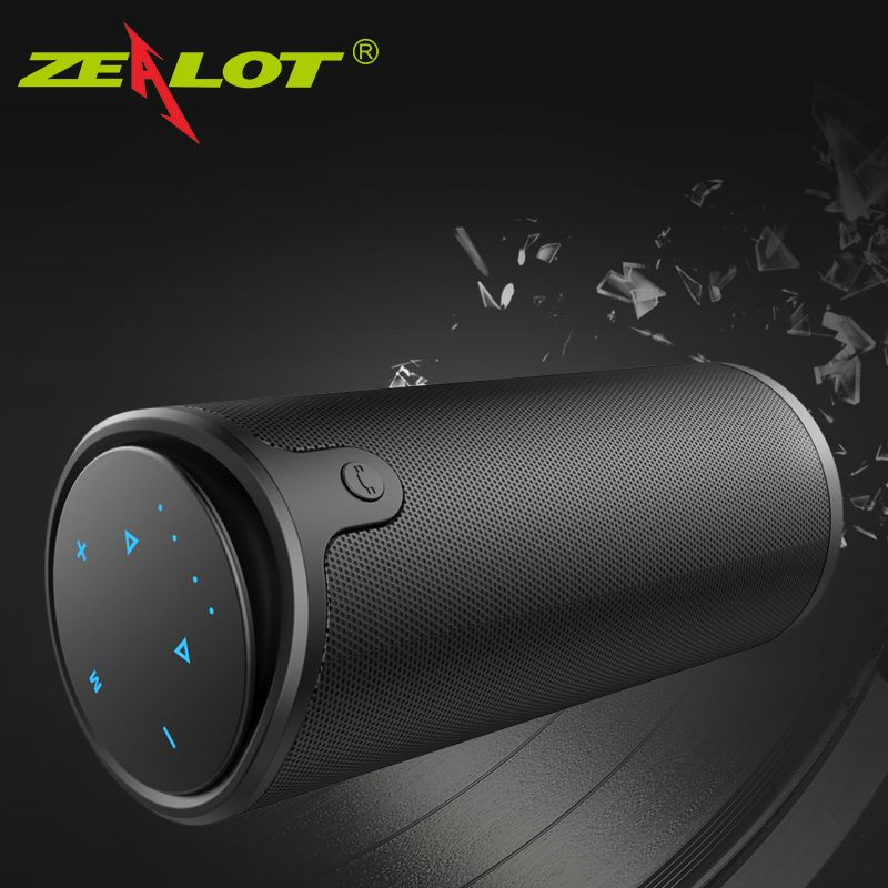 Zealot S8 Column Bluetooth Speaker Outdoor Portable Powerful Subwoofer 3D hifi Stereo Wireless Speaker+Touch Control+Power Bank