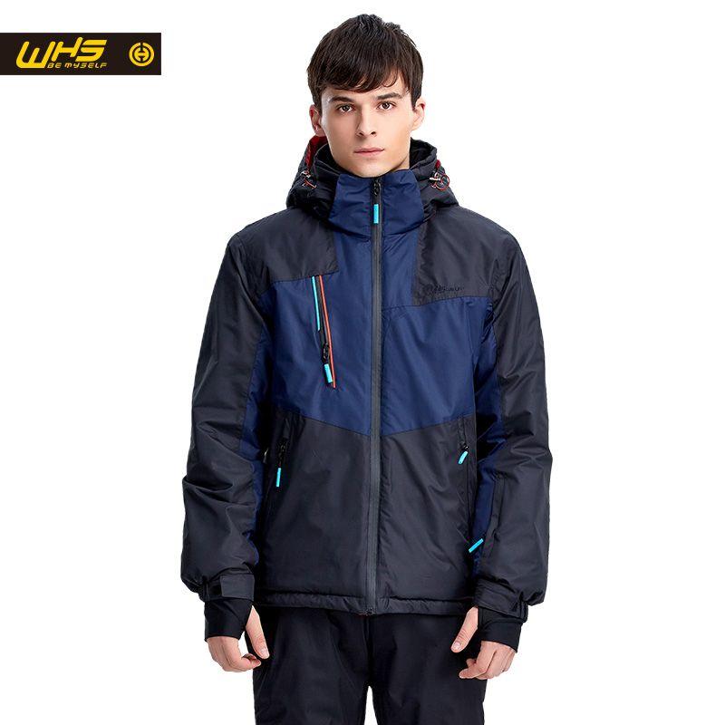 WHS heißer Männer Schnee Ski Jacke Marke Outdoor winddicht wasserdicht mantel Mann schnee kleidung atmungsaktiv sport jacken wandern sportbekleidung