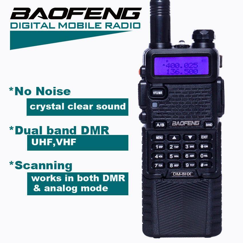 Baofeng DM-5R DMR Digital Walkie Talkie HF Transceiver DM-8HX Radio ,VHF UHF Two Way Radio DM5R Sister Baofeng dm-5r plus md-380