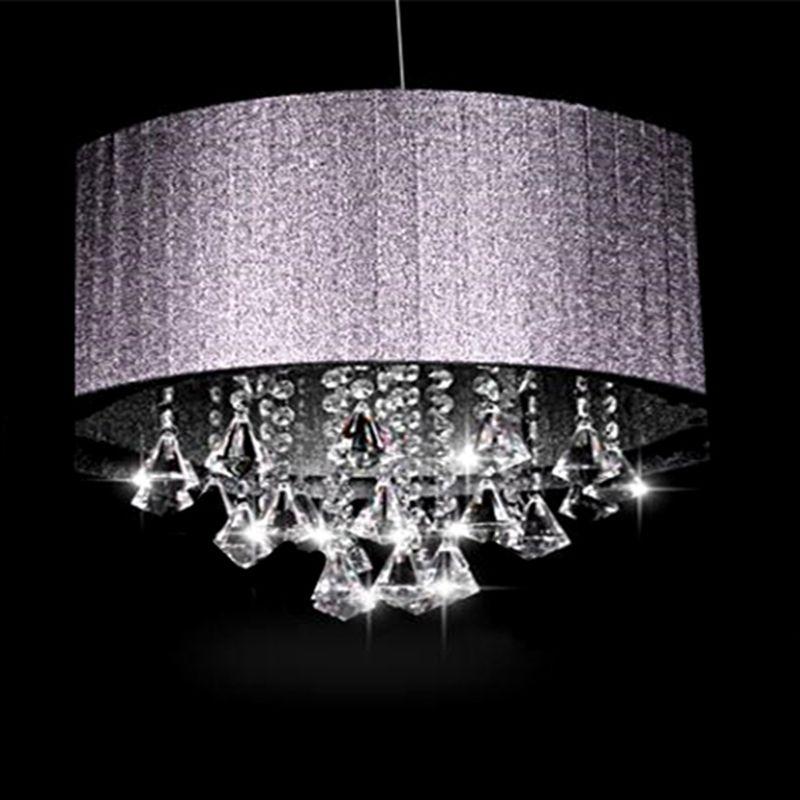 Creative personality Cloth oval K9 crystal lustre luminaria E14 light Living room room aisle Chandeliers