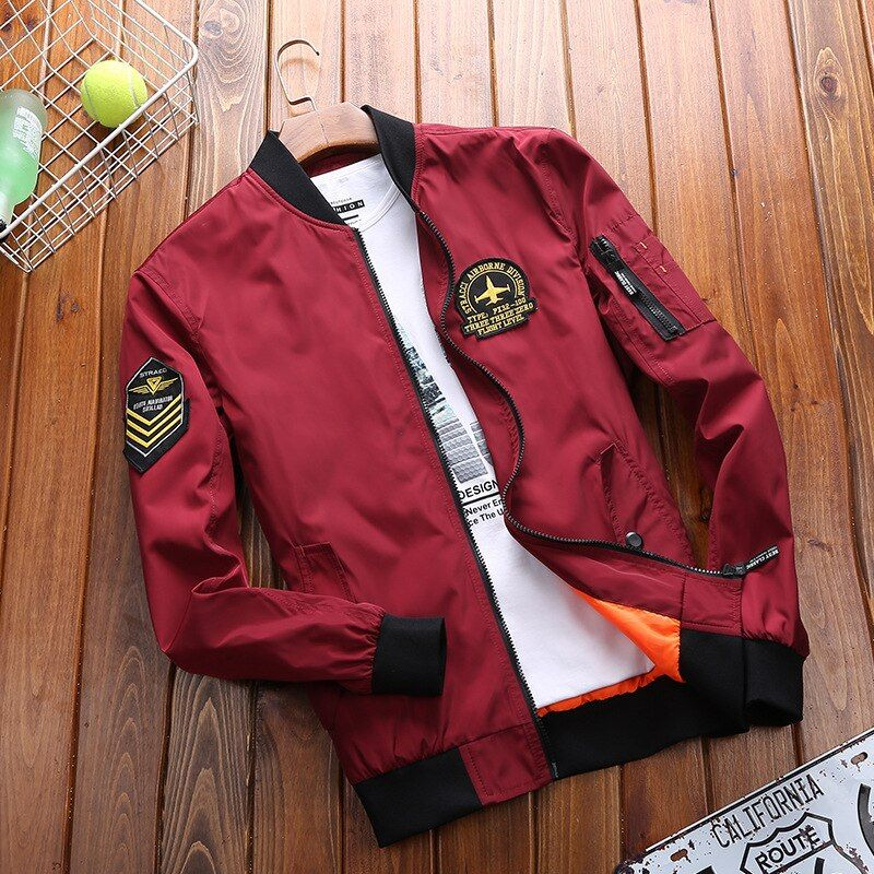 AFS JEEP New Bomber Jacket Men Plus Size Jacket For Men Military Jacket Men Mens SpringJackets And Coats Male 2017