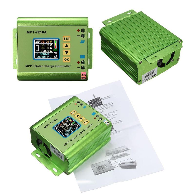 LCD Display MPT-7210A MPPT Solar Panel Charge Controller 24/36/48/60/72V Boost Solar Battery Controllers