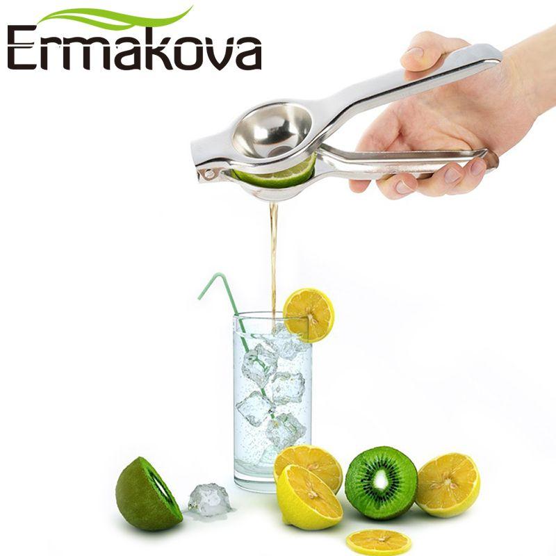 ERMAKOVA Stainless Steel Lemon Squeezer Convenient Manual Citrus Press Juicer Lime Squeezer A Must-HaveKitchen Tool
