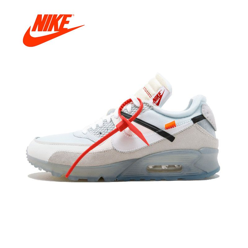 NIKE X OFF-WHITE AIR MAX 90 OW Mens Sneakers Breathable Comfortable Running Shoes Sport Outdoor Original Authentic Athletic Good