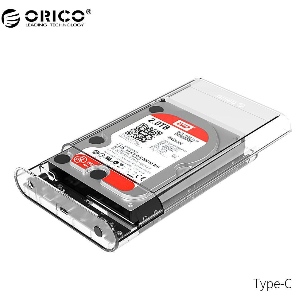 ORICO 3139C3 Typ C Externe Festplattengehäuse 3,5 zoll 5 Gbps SATA3.0 Unterstützung UASP 8 TB Sticks für Notebook Desktop PC