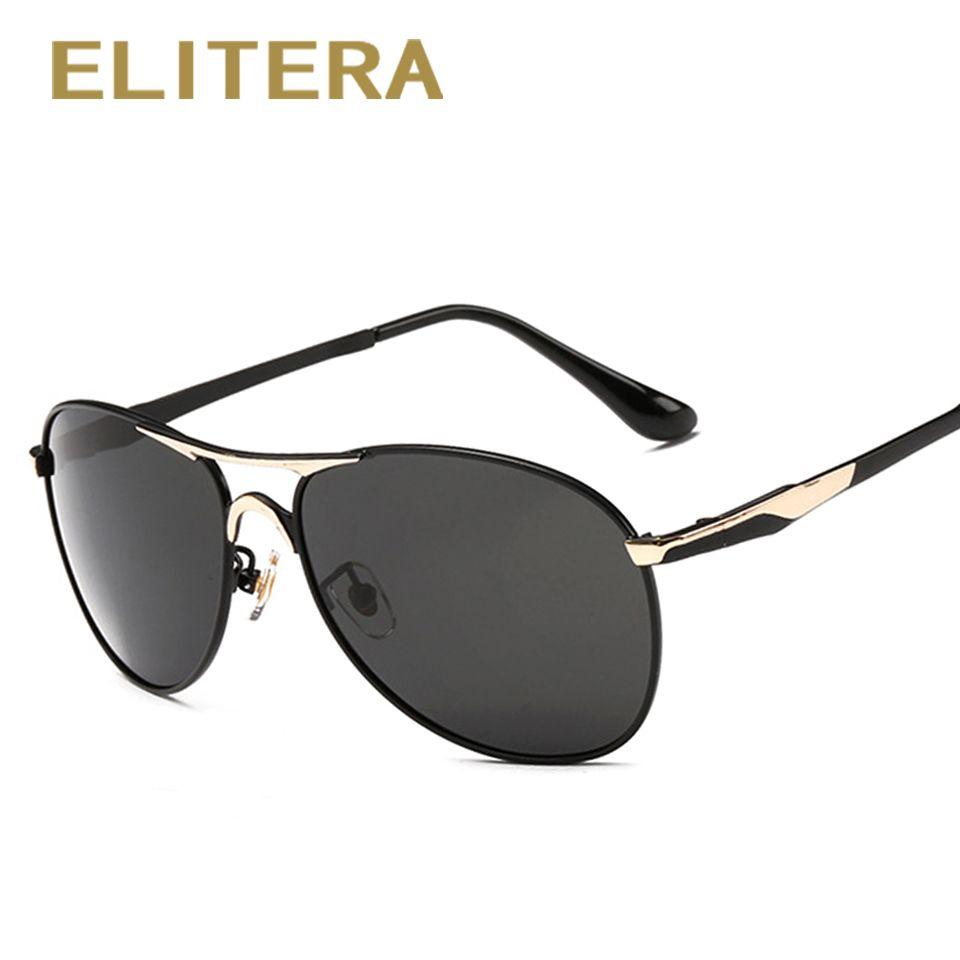 ELITERA Polarisées lunettes de Soleil Hommes Cool Vintage Brand Design Homme lunettes de Soleil HD lentilles Lunettes Shades Oculos Masculino E8722