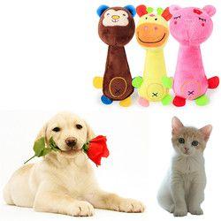 Brinquedos Do Cão do filhote de cachorro Macio Squeaky Plush Som Chew Toy Engraçado Animal de Estimação de Forma Presentes 20*7*4 cm frete Grátis 3E18 # F #