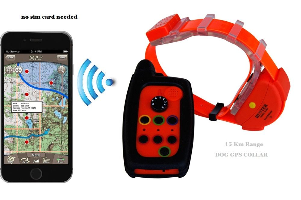 WATERPROOF DOG GPS TRACKER <font><b>COLLAR</b></font> WITH OUT SIM CARD
