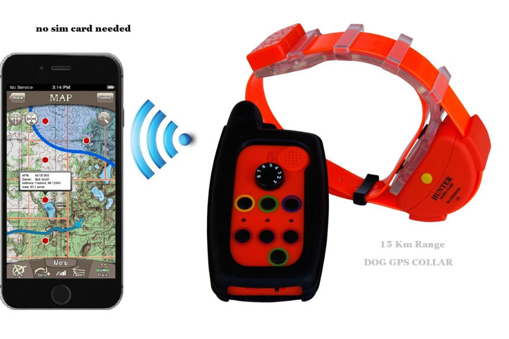 WATERPROOF DOG GPS TRACKER COLLAR WITH OUT SIM CARD