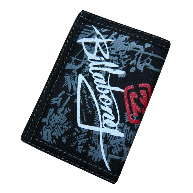 Creative écriture Graffiti toile étudiant portefeuille Zipper Design court magique multifonctionnel 3 plis hommes sac à main 12*8.5 cm 106