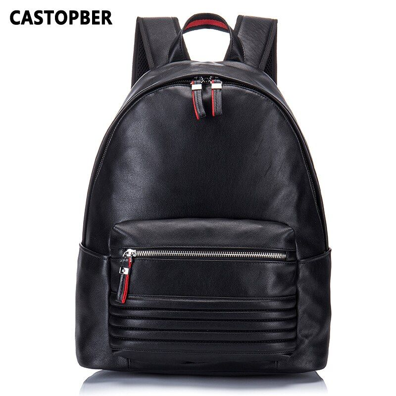 Fashion Backpack Designer Brand European And American Style Cow Genuine Leather Travel Shoulder Bag Large Capacity High Quality