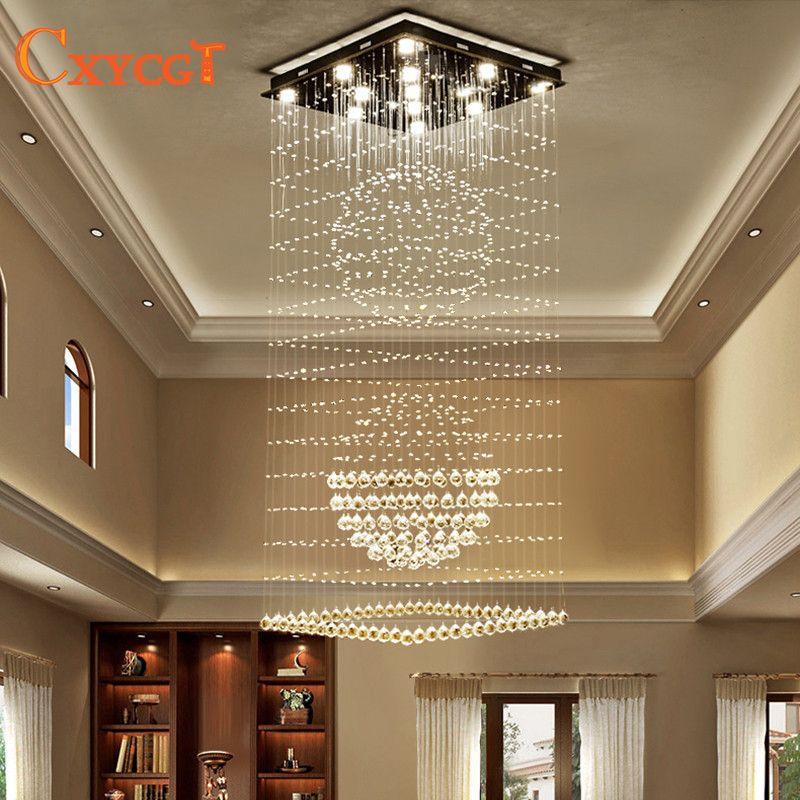 Moderne Elegante led Große Kronleuchter Leuchten für Hotel Villa Kristallkugel Form Lampe