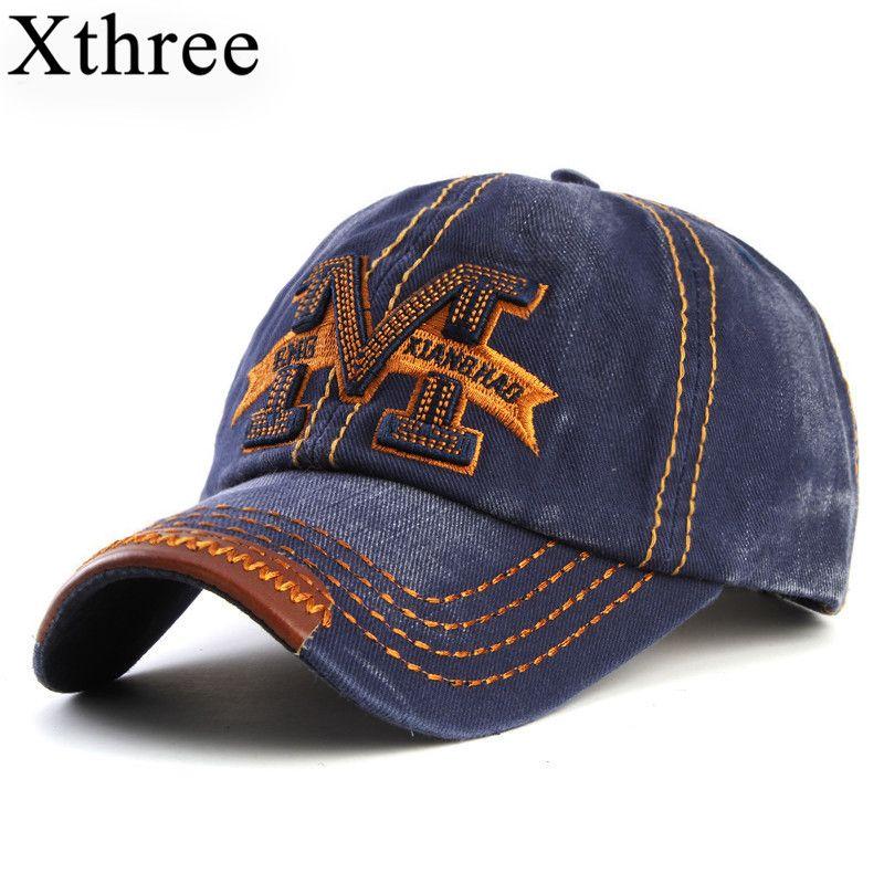 Xthree marke kappe beute knochen sonne baseball caps hip hop-hut, mütze hüte für männer und frauen
