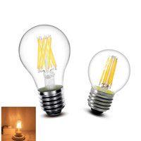 1 unids LED filamento de la bombilla E27 E14 2 W 4 W 6 W 8 W claro Retro Edison luz de la lámpara incandescente A60 G45 220 V AC Super brillante