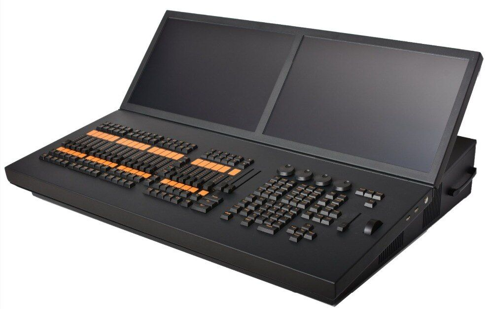 Heißer verkauf MA bühne licht controller doppel touchscreen display dmx dj beleuchtung konsole grand ma2 moving light control flycase