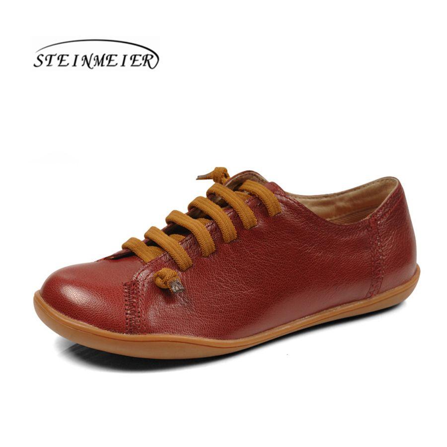 Women baleriny slipon flat spring shoes woman ballerina sheepskin Leather casual Group Barefoot shoes woman sneakers shoes