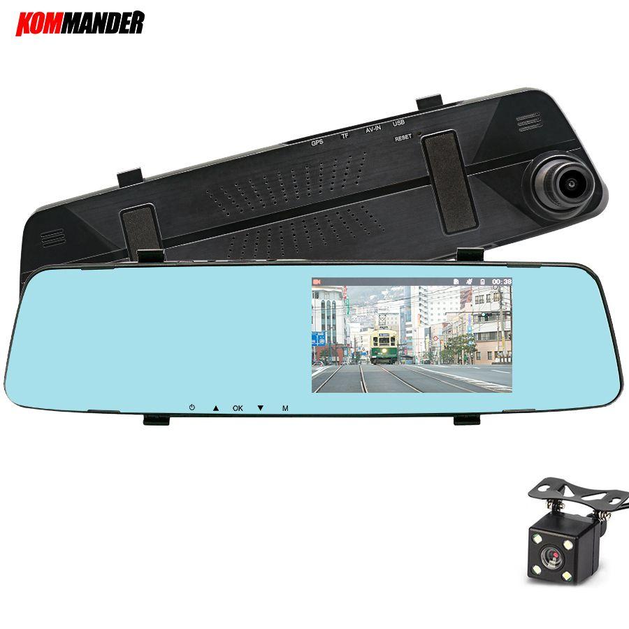 Kommander 5 Mirror DVR for cars Camera Car DVR Night vision Full HD 1080P Dash Cam Camera,Dashcam