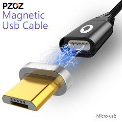Pzoz cable magnético cable micro USB carga rápida adaptador relámpago micro USB Cabel Transmisión Android microusb cargador enchufe