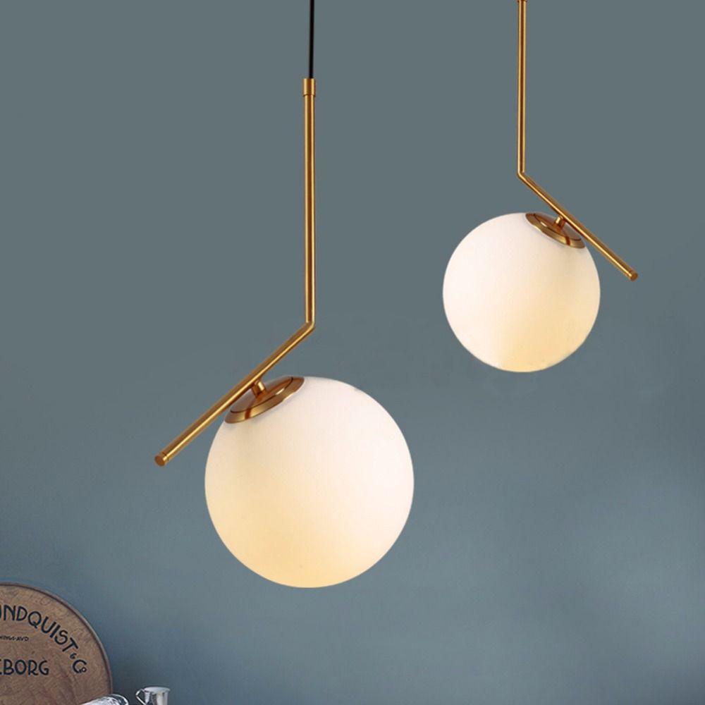 Modern Pendant Ceiling Lamp LED Lamparas Suspension Luminaire Chandelier Luster Glass Ball Hanging Lighting E27 Light Fixture