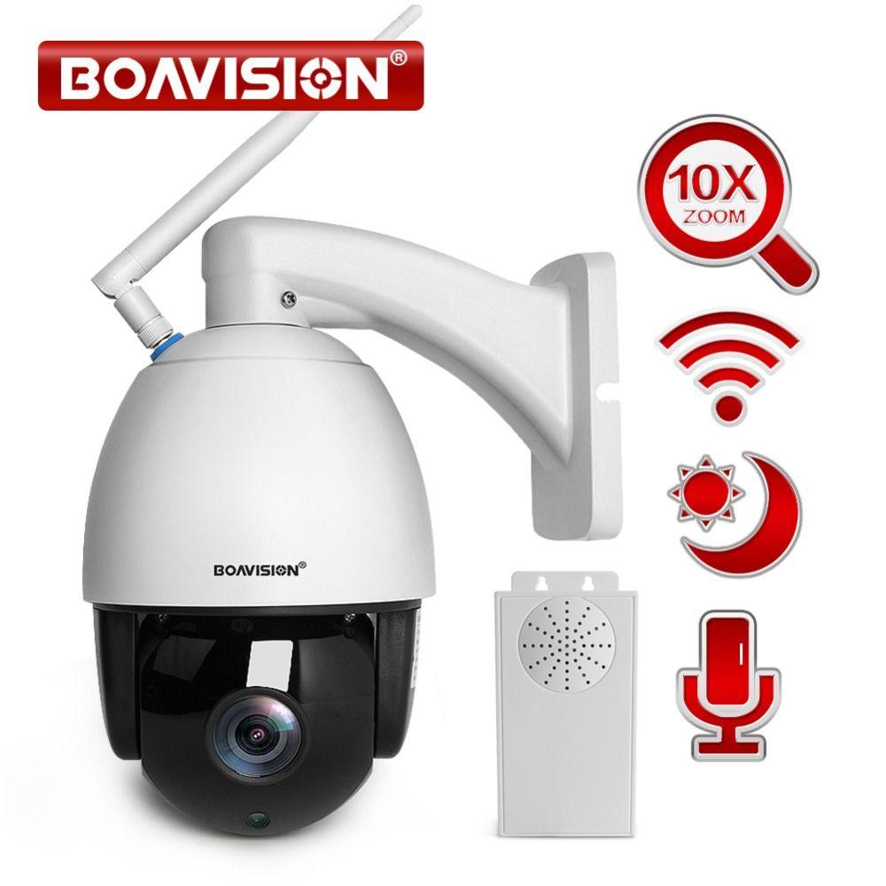 1080P WIFI PTZ Dome IP Camera Outdoor Waterproof 10X Optical Zoom HI3516C+SONY323 Wireless CCTV Camera ONVIF 2 Way Audio Talk