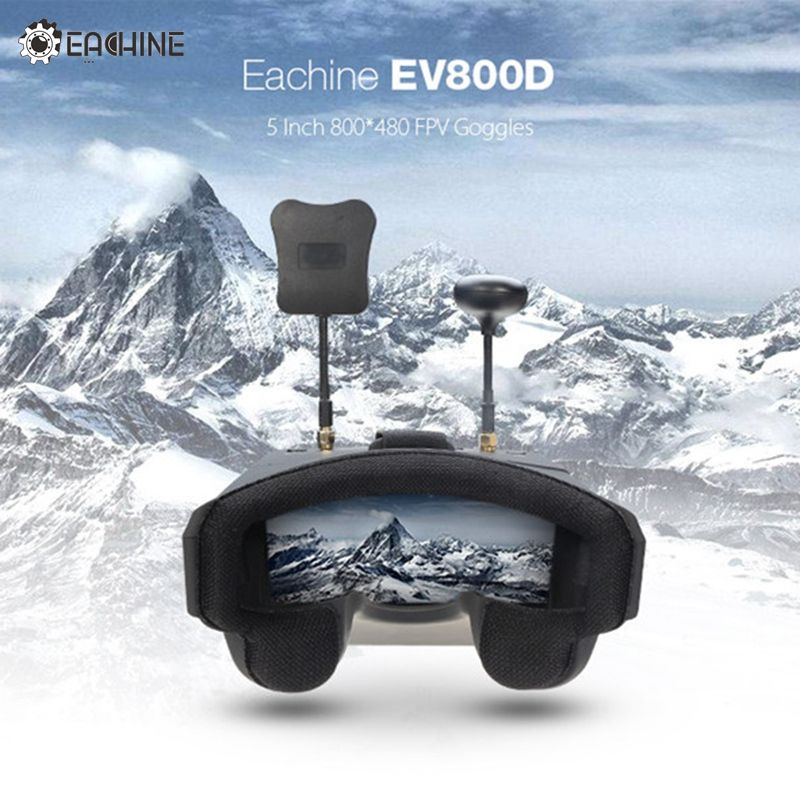 In Stock Eachine EV800D 5.8G 40CH Diversity FPV Goggles 5 Inch 800*480 Video Headset HD DVR Build in Battery VS Fatshark Aomway