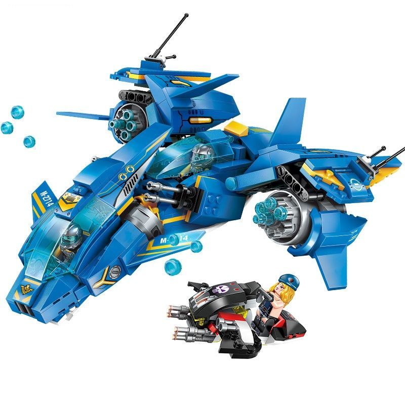 Enlighten Technic Air combat Fighter vehicle Building Blocks Sets Kits Bricks Classic Model Kids Toys Compatible Legoings NEXO