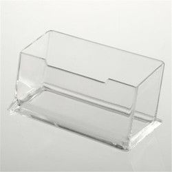 1pc Clear Desktop Business Card Holder Desk Office Organizer Display Stand Acrylic Office Supplies Desk Accessories