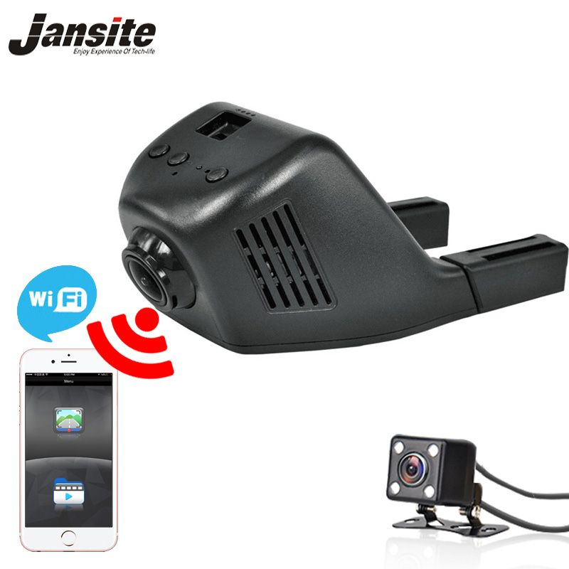 Jansite W03S wifi Car DVR two cameras Loop video Full HD 1080P car cameras <font><b>Registrator</b></font> Dashcam Digital Video Recorder