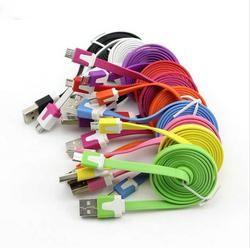 Universal 0.22 M/1 m/2 m/3 M plana micro USB data cable de carga para Galaxy s6 Edge + para xiaomi Huawei para Puerto micro USB del teléfono móvil
