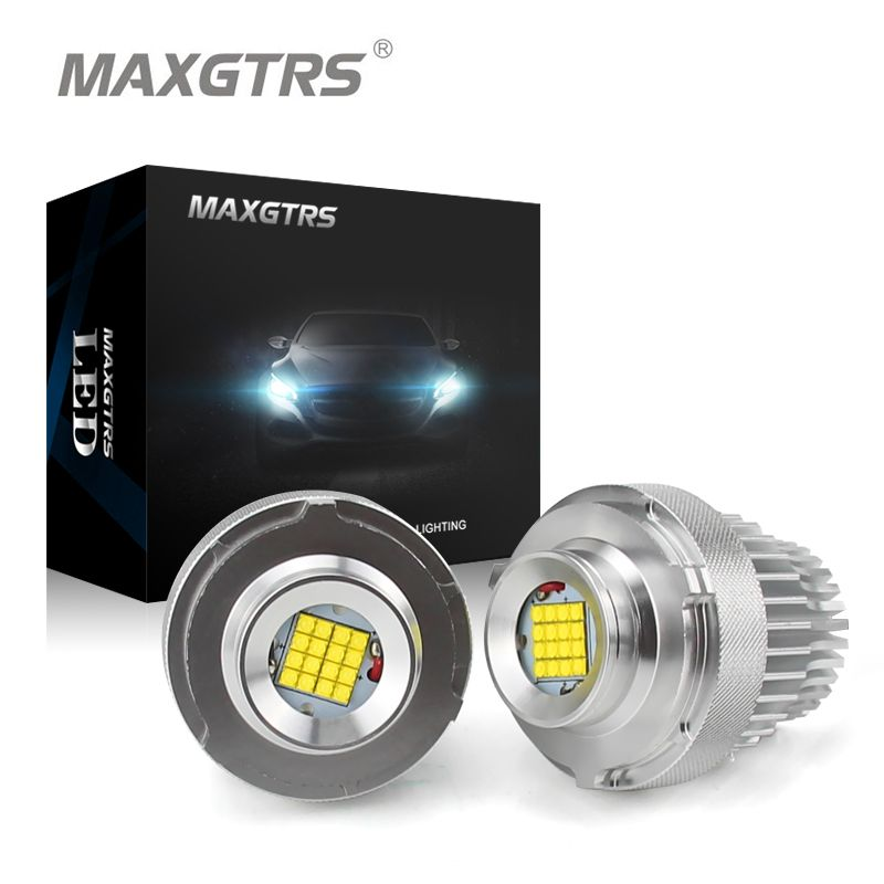 High Power 80W LED Marker Angel Eye Halo Ring Bulb For BMW E60 E61 LCI 2007-2010 Year LED Trim White Canbus Error Free