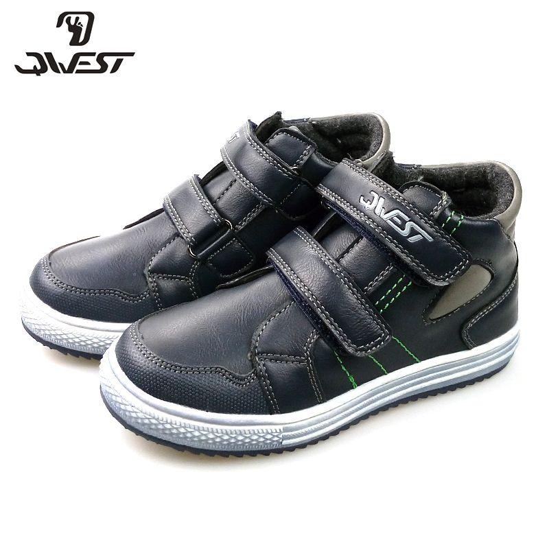 QWEST (durch FLAMINGO) frühling & Herbst Boot kinder Schuh Hohe Qualität Knöchel Kinder Schuhe mit Haken & Loop für Kleine Jungen 82B-SW-0890