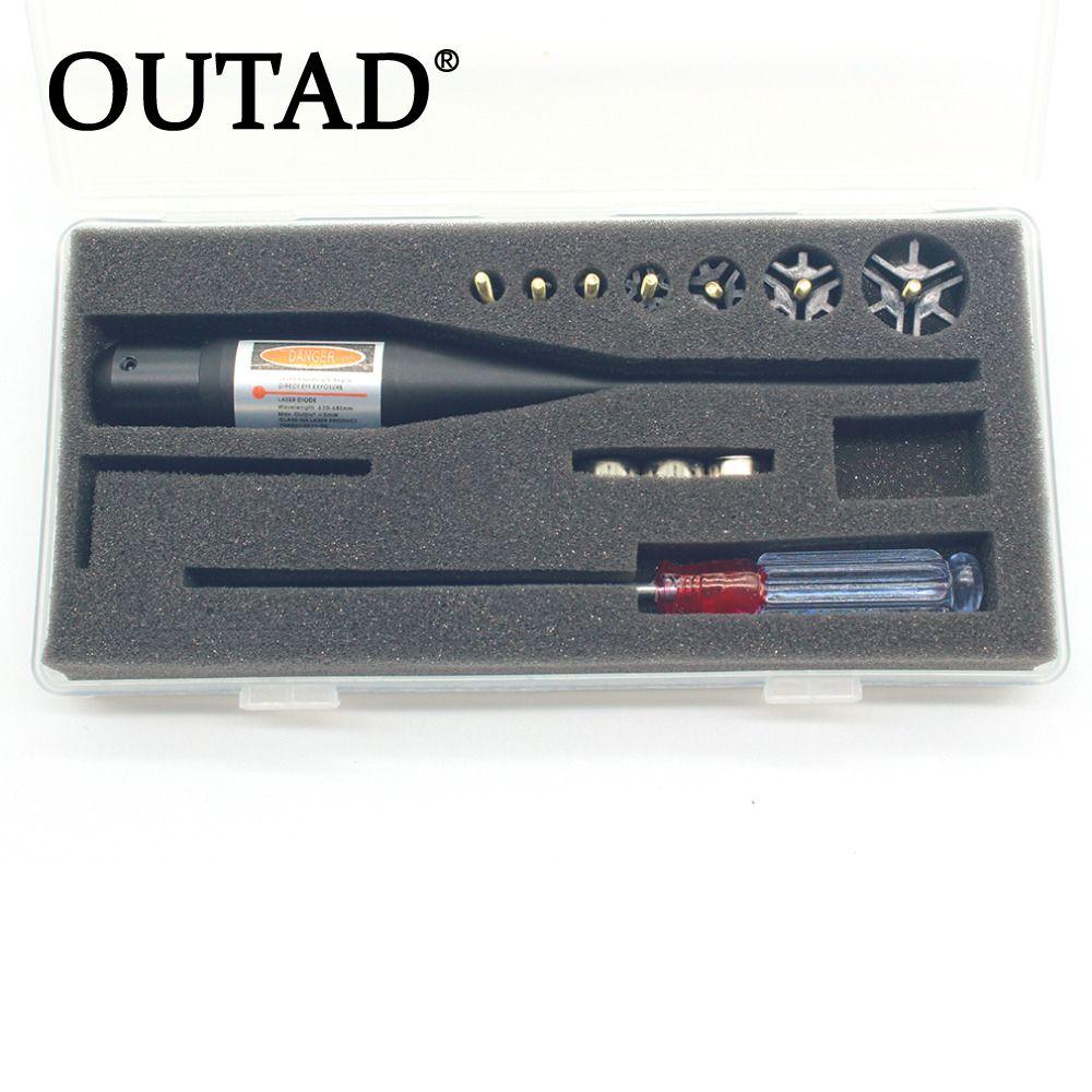 Outad calidad superior láser rojo boresighter bore sighter kit para Caza. 17 a. 78 calibre promoción
