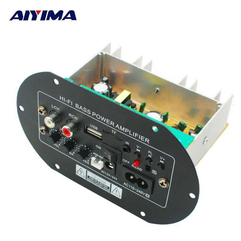AIYIMA Amplifiers Audio Board Amplificador Car High Power Fever Class Subwoofer Amplifier Board USB Remote Control 12V24V220V