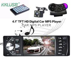 Voiture Radio Auto Audio Stéréo 4.1 pouce 1 Din FM Bluetooth 12 v soutenir caméra de Vue Arrière Caméra USB FM MP4 MP5 USB SD TF autoradio 4022D