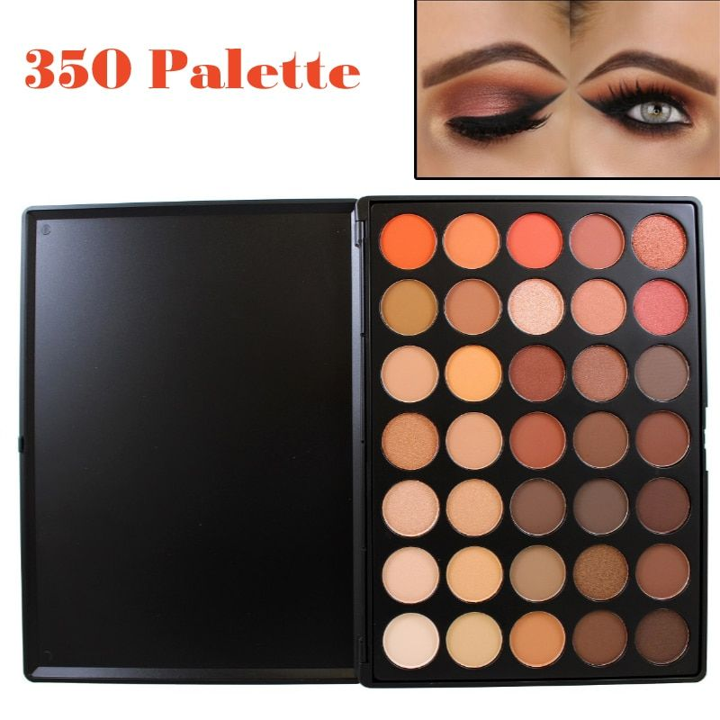 Professional 35 Color Eyeshadow Palette Earth Warm Color Shimmer <font><b>Matte</b></font> Eye Shadow Beauty Makeup Set 35O 35T 35K 35P