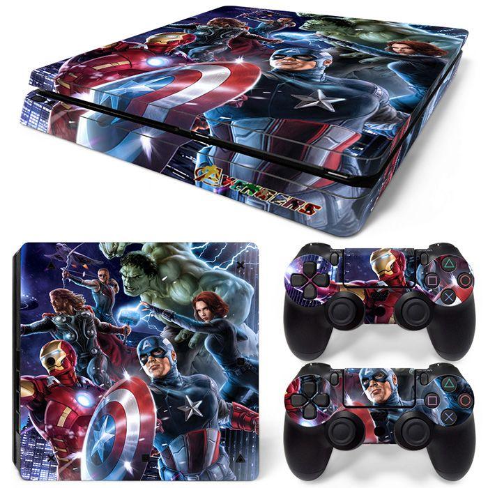 Neue Ankunft The Avengers Design Aufkleber Aufkleber für PS4 Slim