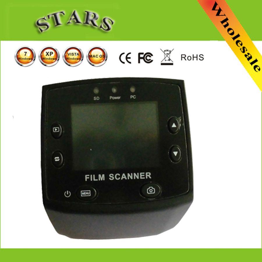 5MP 35mm USB Negative Film Slide Viewer Scanner 2.4LCD Digital Color Photo Film <font><b>Converter</b></font> Slide Scanner ,free shipping