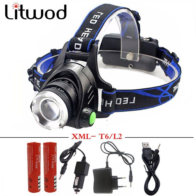 5000 lumens led projecteur xml t6 xm-l2 Phares Lanterne 4 mode étanche tête de la torche 18650 Rechargeable Batterie Date