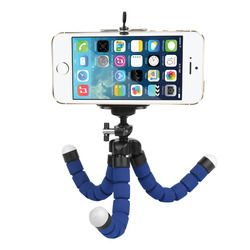 SHOOT Flexible Mini Octopus Tripod for Phone With Phone Clip Tripod Stand Mount For GoPro SJCAM Xiaomi Yi Action Camera